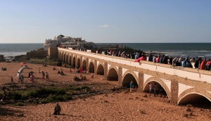The bridge leading to the Sidi Abdel Rahman shrine.