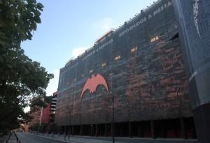 """The Valencia Football Stadium (""""Estadi del Mestalla"""")."""