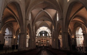 Inside the Valencia Cathedral, which was consecrated in 1238 AD.