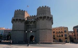 """The facade of the Torres de Serranos (or """"Serranos Gate"""")."""