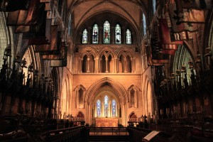 The choir inside St. Patrick's Cathedral.