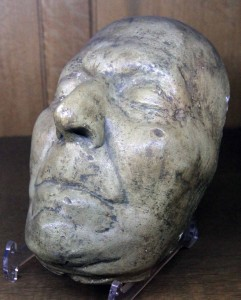 The death mask of Jonathan Swift, author of 'Gulliver's Travels'.