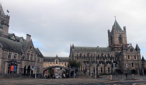Christ Church Cathedral, the oldest surviving church in Dublin (from 1030 AD) and the seat of the Church of Ireland.