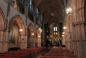 The interior of Christ Church Cathedral.