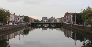 The Liffey River.