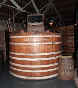 Washback used to ferment the malted barley.