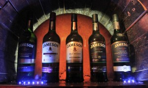 Different types of Jameson Irish Whiskey on sale.