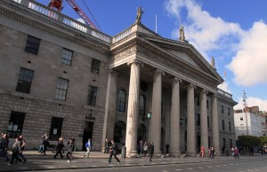 The General Post Office in Dublin - it served as the headquarters of the uprising's leaders during the Easter Rebellion in 1916 AD.