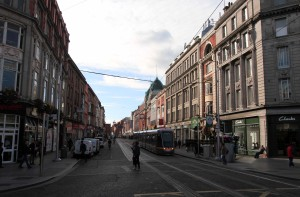 A view of Abbey Street.