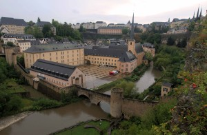 Neumünster Abbey, across the Alzette River.