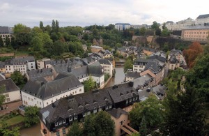 The Grund, a picturesque quarter in Luxembourg City.