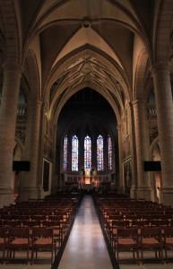 Inside Notre-Dame Cathedral.