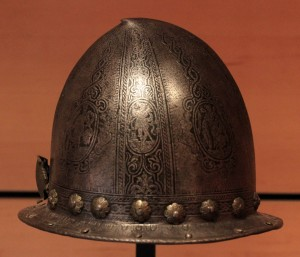 A cabasset helmet from the 16th-century AD.