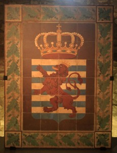 Tiles bearing Luxembourg's coat of arms (19th-century AD).