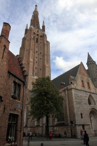 The Church of Our Lady in Bruges, which dates back to the 13th-century AD.