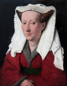 'Portrait of Margareta van Eyck' by Jan van Eyck (1439 AD).