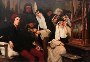 'Memling Paints the Shrine of Saint Ursula in the Saint John's Hospital in Bruges' by Henri Dobbelaere (1857 AD).