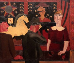 'The Shooting Gallery' by Gustave De Smet (1923 AD).