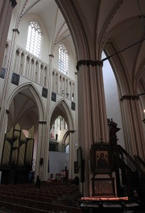 Inside Sint-Salvator Cathedral.