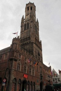 The Belfry of Bruges, which was built around 1240 AD.