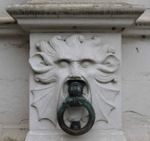 Adornment on the outside of the City Hall.