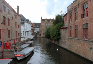 Another canal in Bruges.