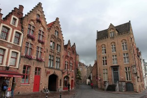 Buildings on the north side of Jan van Eyck Square.