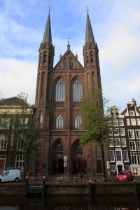 De Krijtberg Kerk in Amsterdam; the church was designed by Alfred Tepe and was opened in 1883 AD.