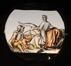 A magic lantern slide.