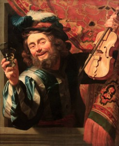 'The Merry Fiddler' by Gerard van Honthorst (1623 AD).