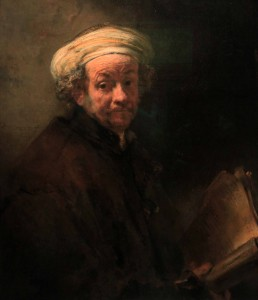 'Self-portrait as the Apostle Paul' by Rembrandt van Rijn (1661 AD).
