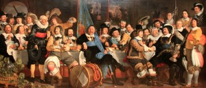 'Banquet at the Crossbowmen's Guild in Celebration of the Treaty of Münster' by Bartholomeus van der Helst (1648 AD).