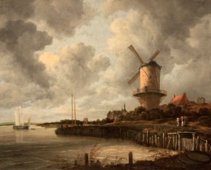 'The Windmill at Wijk bij Duurstede' by Jacob Isaacksz van Ruisdael (1668-1670 AD).