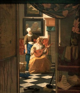 'The Love Letter' by Johannes Vermeer (1669-1670 AD).