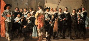 "'Militia Company of District XI Under the Command of Captain Reynier Reael, Known as the ""Meagre Company""' by Frans Hals and Pieter Codde (1637 AD)."