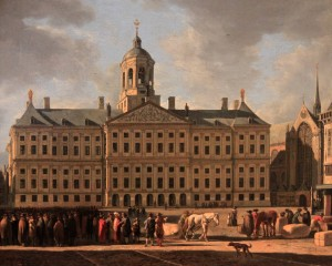 'Town Hall on Dam Square, Amsterdam' by Gerrit Adriaensz Berckheyde (1672 AD).