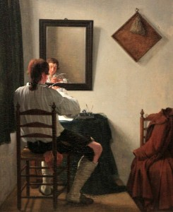 'A Writer Trimming His Pen' by Jan Ekels (1784 AD).