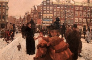 'The Singel Bridge at the Paleisstraat in Amsterdam' by George Hendrik Breitner (1898 AD).