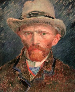 'Self-Portrait' by Vincent van Gogh (1887 AD).