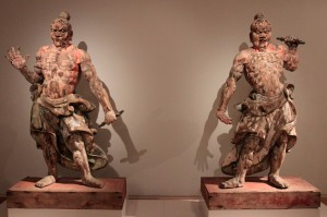 Two temple guardians from Japan, 14th-century AD.