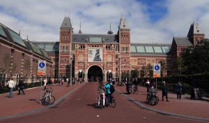The southwest entrance to the Rijksmuseum.