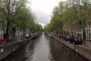 Another canal in Amsterdam.