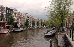 Yet another canal in Amsterdam.