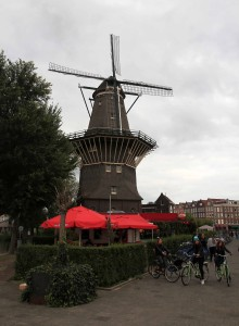 De Gooyer, the tallest windmill in the Netherlands, located between Funenkade and Zeeburgerstraat in Amsterdam.