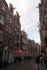 A street in Amsterdam.