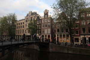Bridge over the canal in the red-light district.