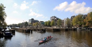 The Amstelsluizen, which are sluices in the Amstel River that date from 1674 AD.