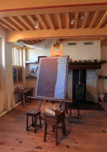 Rembrandt's large studio inside the house that he lived and worked in from 1639 to 1656 AD.