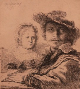 'Self-portrait with Saskia' by Rembrandt (1636 AD).