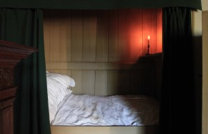A box bed inside the canal house that houses the Our Lord in the Attic Church.